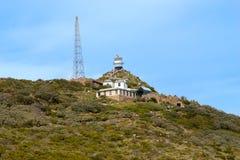 Vuurtoren. Kaap van Goede Hoop. Kaapschiereiland de Atlantische Oceaan. Cape Town. Zuid-Afrika Royalty-vrije Stock Foto's