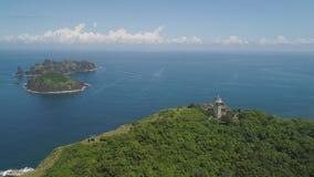 Vuurtoren in kaapengano Het eiland van Filippijnen, Palau stock afbeelding