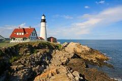 Vuurtoren in Maine Royalty-vrije Stock Foto