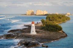 Vuurtoren Nassau de Bahamas Stock Afbeeldingen