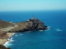 Vuurtoren-natuurlijke Park Cabo DE Gata-Almeria-Andalusia stock foto's
