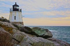 Vuurtoren Nieuwpoort Rhode Island royalty-vrije stock foto's