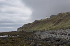 Vuurtoren in Noord-IJsland Royalty-vrije Stock Afbeelding