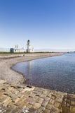 Vuurtoren op Chanonry-punt in Schotland stock foto