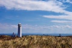 Vuurtoren op Eiland Walney Stock Fotografie