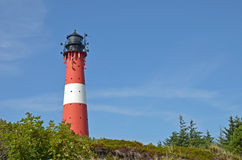 Vuurtoren op het eiland Sylt in Hoernum Royalty-vrije Stock Foto
