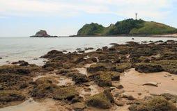 Vuurtoren op het eiland van Koh Lanta Stock Fotografie