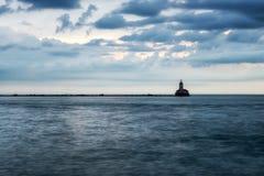 Vuurtoren op het Meer stock foto's