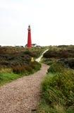 Vuurtoren op Nederlands eiland Royalty-vrije Stock Afbeelding