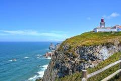 Vuurtoren in Portugal royalty-vrije stock afbeelding