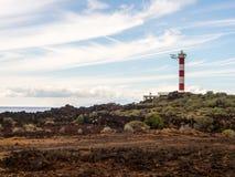 Vuurtoren Punta Rasca Royalty-vrije Stock Afbeeldingen