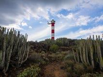 Vuurtoren Punta Rasca Stock Foto