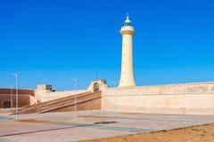 Vuurtoren in Rabat Stock Foto