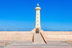 Vuurtoren in Rabat stock afbeelding