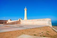 Vuurtoren in Rabat Stock Foto's