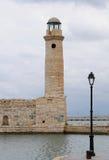 Vuurtoren, Rethymno Kreta Stock Afbeeldingen