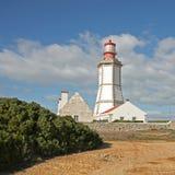 Vuurtoren in Sesimbra, Portugal. Royalty-vrije Stock Foto