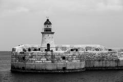 Vuurtoren in Valletta, Malta. Stock Fotografie