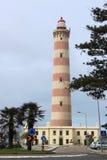 Vuurtoren van Aveiro in Praia DA Barra Royalty-vrije Stock Foto
