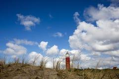 Vuurtoren van de Nederlandse hemel van Texel Royalty-vrije Stock Afbeelding