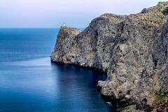 Vuurtoren van GLB DE Formentor in het eiland van Mallorca Royalty-vrije Stock Fotografie