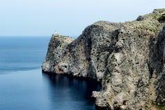 Vuurtoren van GLB DE Formentor in Maiorca-eiland Royalty-vrije Stock Foto's