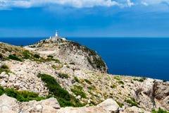 Vuurtoren van GLB DE Formentor in Maiorca-eiland Stock Afbeeldingen