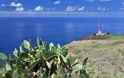 Vuurtoren van Ponta do Pargo, Madera Royalty-vrije Stock Fotografie