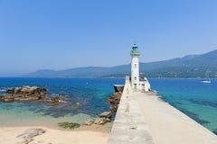 Vuurtoren van Propriano, Corsica Royalty-vrije Stock Foto's