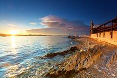 Vuurtoren in Zadar stock fotografie
