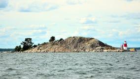 Vuurtoren in Zweedse archipel Royalty-vrije Stock Afbeeldingen