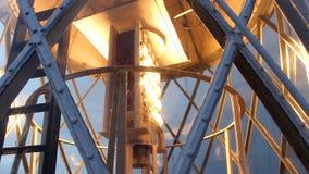 Vuurtorenlamp stock videobeelden