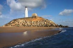 Vuurtorens Cabo Trafalgar Stock Fotografie