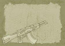 Vuurwapen op grunge Royalty-vrije Stock Foto's