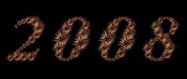 Vuurwerk 2008 Royalty-vrije Stock Foto's
