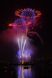 Vuurwerk 3 van Boston Stock Afbeeldingen