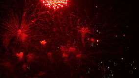 Vuurwerk 16 stock video