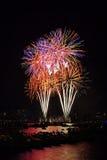 Vuurwerk 7 van Boston Stock Foto
