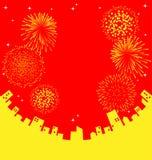 Vuurwerk abstract Chinees Nieuwjaar Royalty-vrije Stock Foto