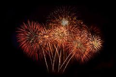 Vuurwerk Abstracte achtergrond, stock foto