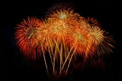 Vuurwerk Abstracte achtergrond, royalty-vrije stock afbeelding