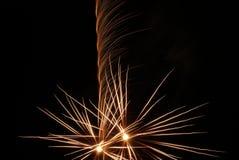 Vuurwerk in actie Royalty-vrije Stock Afbeeldingen