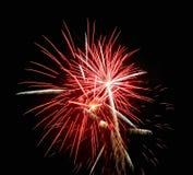 Vuurwerk, begroeting. Stock Foto