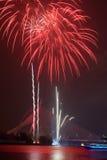 Vuurwerk bij het Festival van Putrajaya Floria van 2011 Royalty-vrije Stock Fotografie