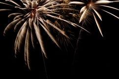 Vuurwerk bij nacht Stock Afbeeldingen