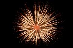 Vuurwerk bij nacht in hemel 4 royalty-vrije stock afbeelding