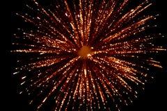 Vuurwerk bij nacht in hemel 6 stock fotografie