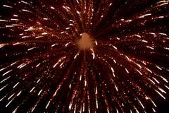 Vuurwerk bij nacht in hemel 7 royalty-vrije stock fotografie