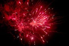 Vuurwerk bij nacht in hemel 9 royalty-vrije stock fotografie