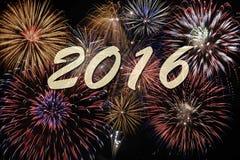 Vuurwerk bij nieuwe jarenvooravond Stock Afbeelding